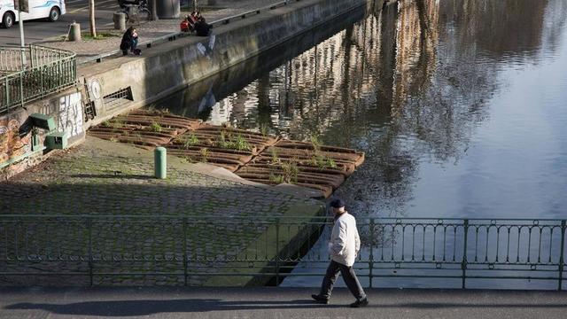 Premier radeau végétalisé de Paris