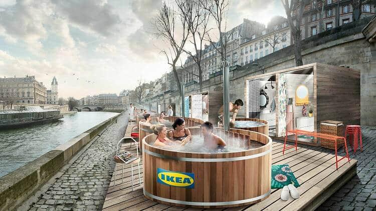 Ikea bains nordiques Paris