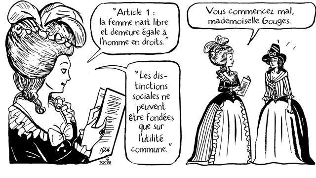 Femme qui a marque Paris Olympe de Gouges