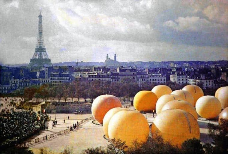 En images : les premiers clichés de Paris en couleurs !