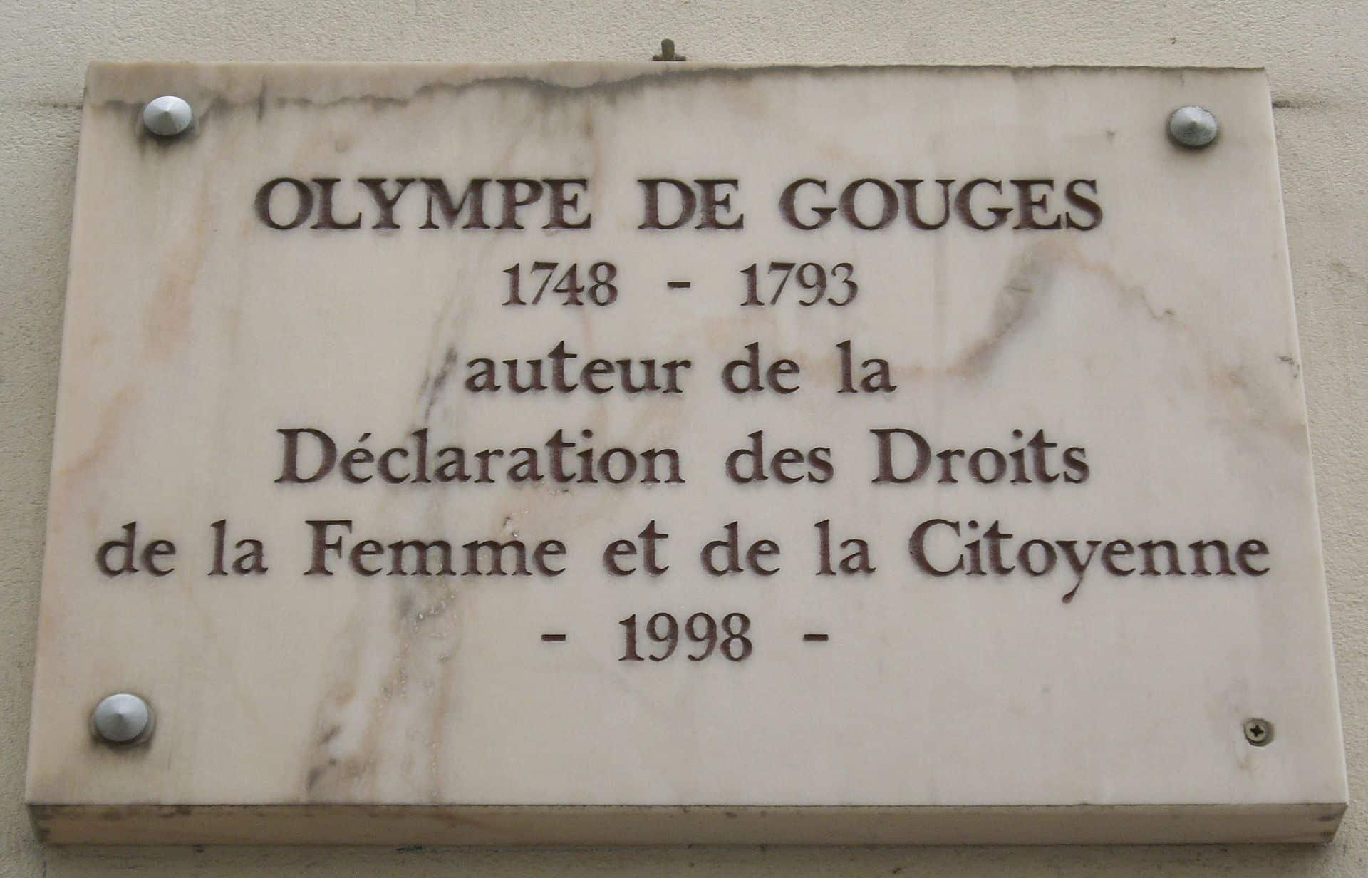 Olympe de Gouges Femme influente Paris