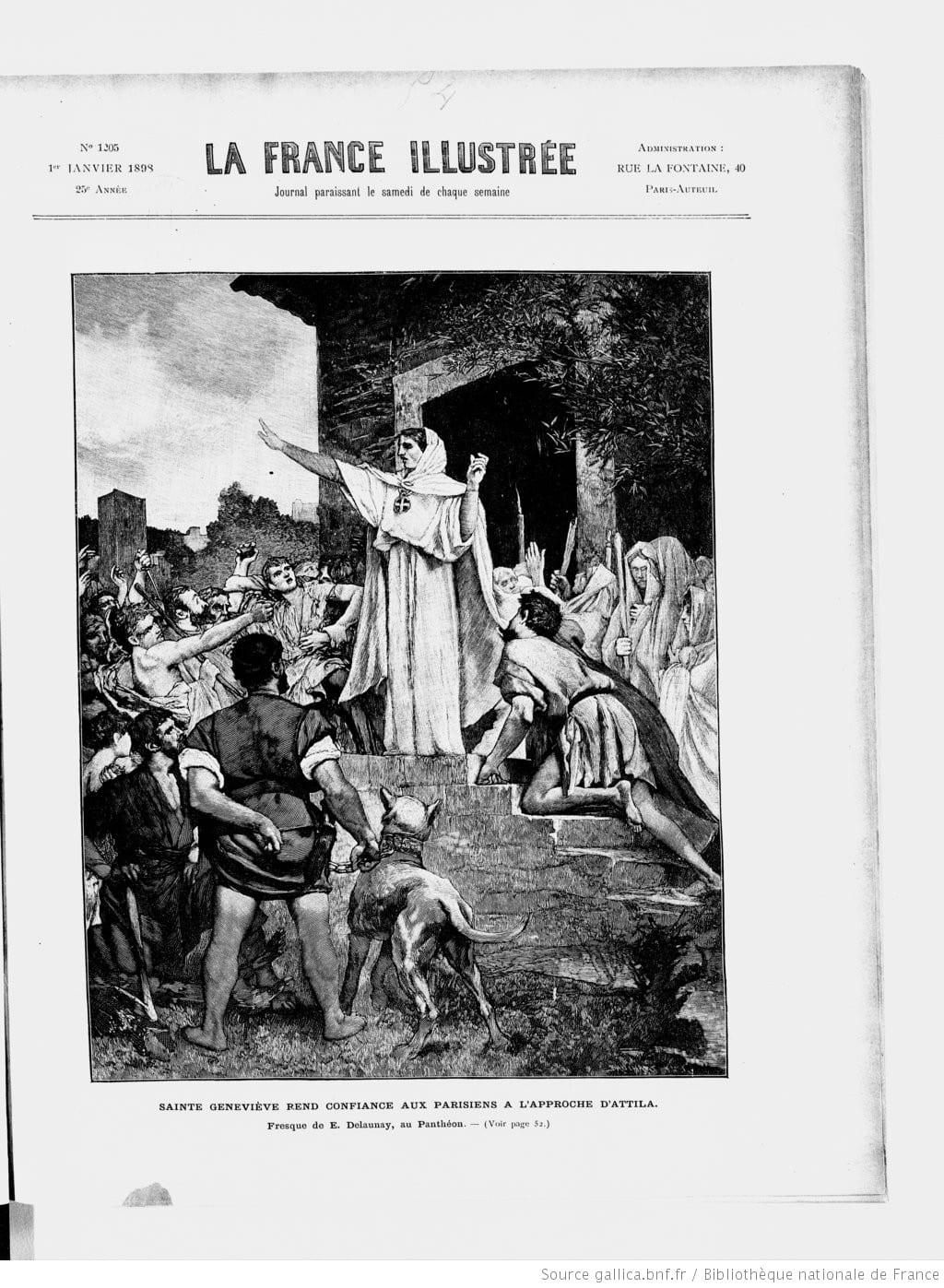 Sainte Genevieve femme patronne Paris
