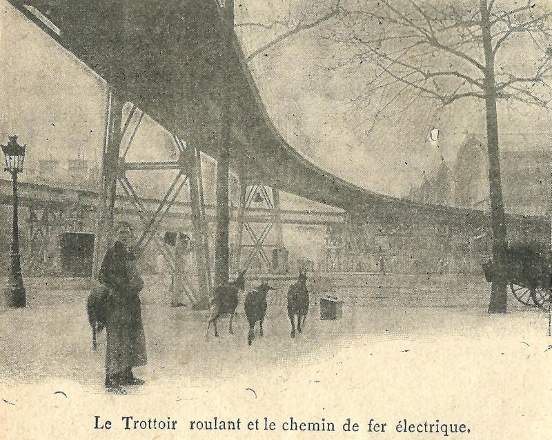 Paris 1900 le trottoir roulant