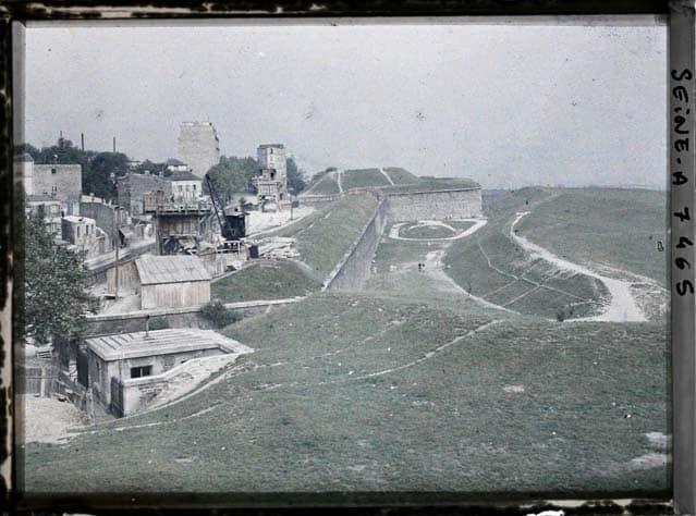 Paris fortification 1900 photos en couleurs