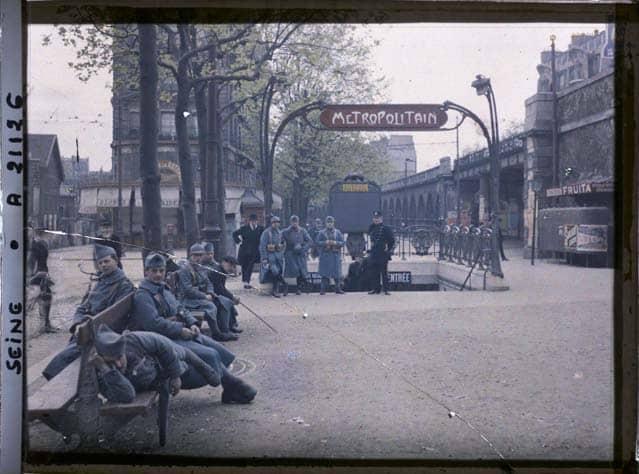 Paris Grande Guerre photos en couleurs