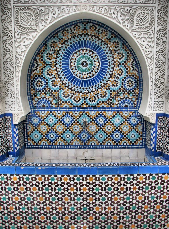 Mosaique grande mosquee de paris