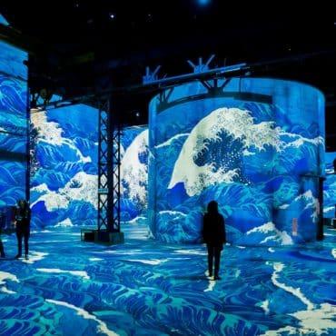 Atelier des Lumieres expo projection japon Paris