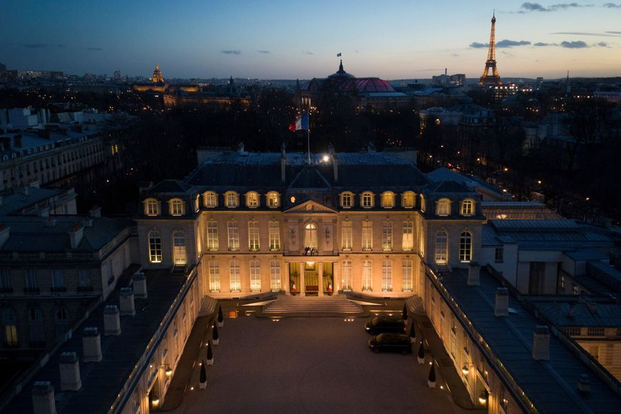 Palais de L'Elysee Paris insolite photos drone