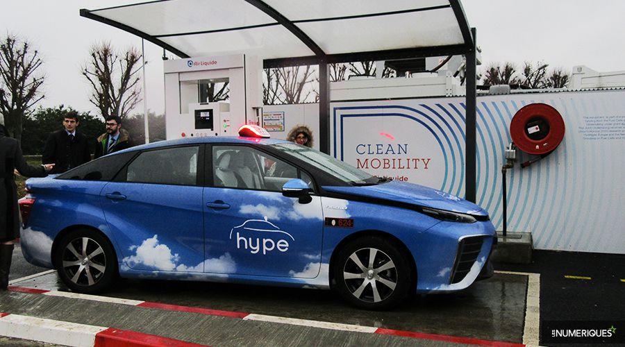 taxi hydrogene Paris technologie