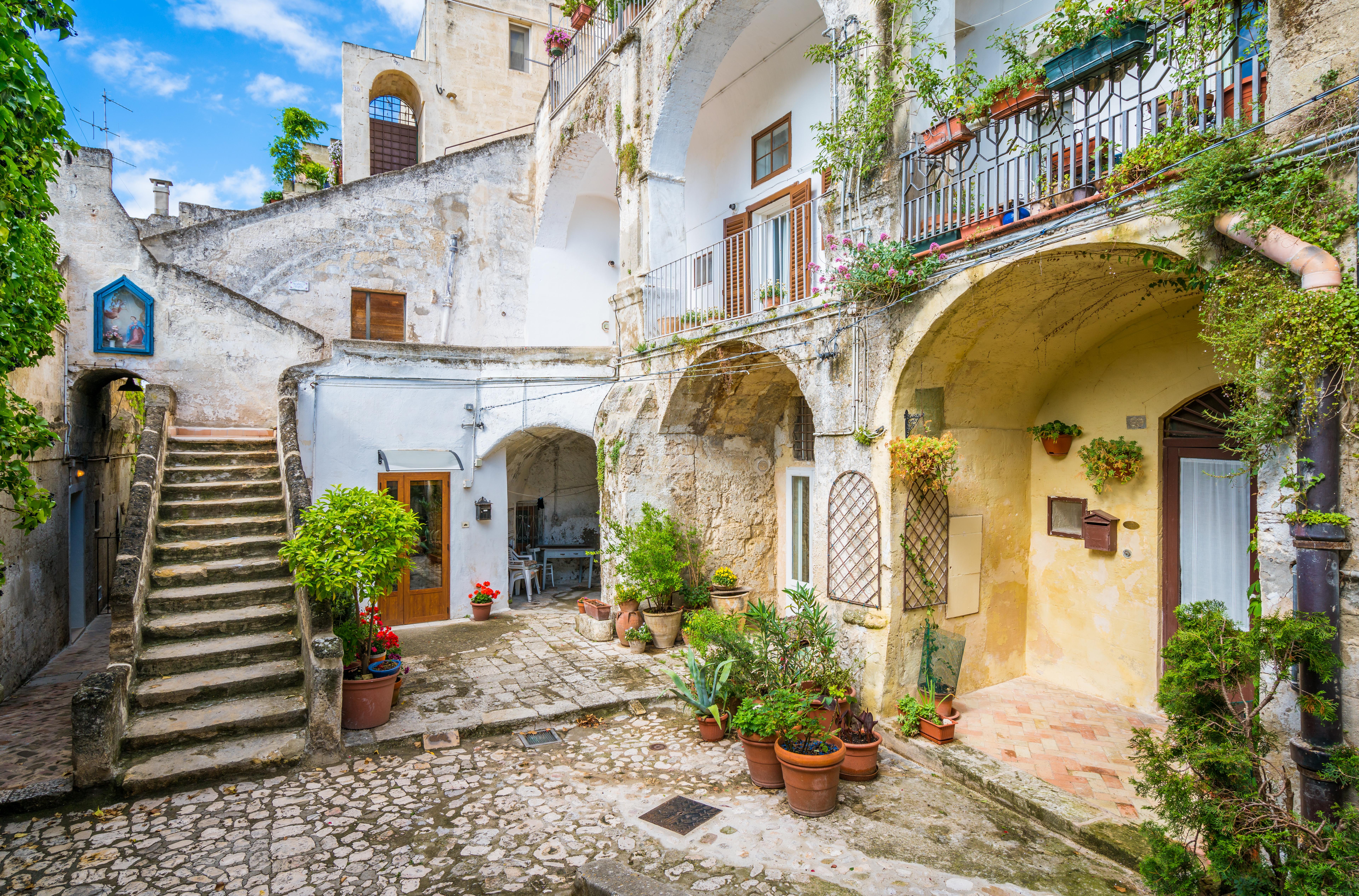 Matera Italie du sud Bon tuyaux de Cloclo