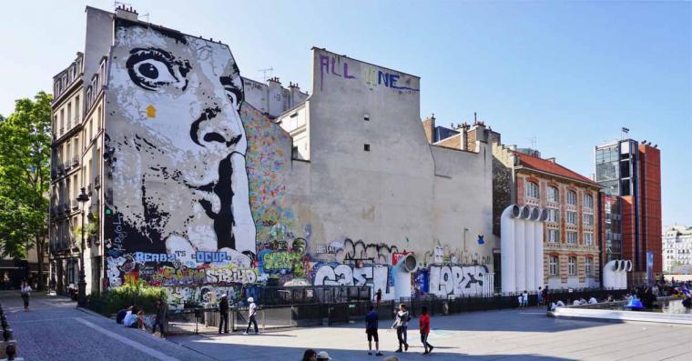 beaubourg street art