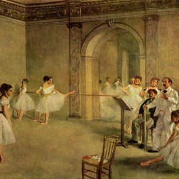 edgar degas la salle de ballet de l'opéra rue le pelletier 1872