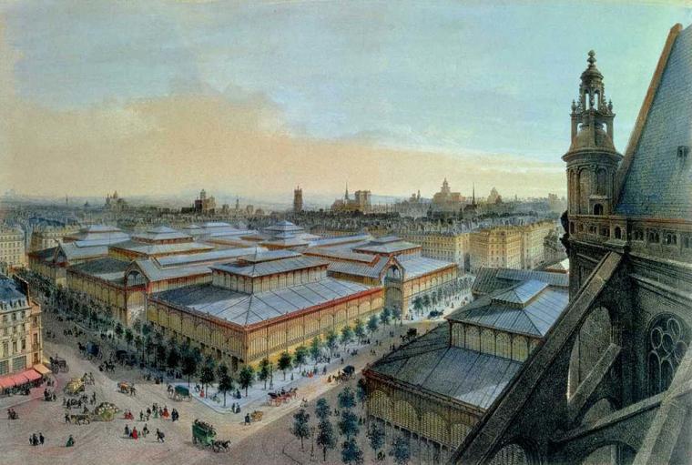 halles de paris 1870