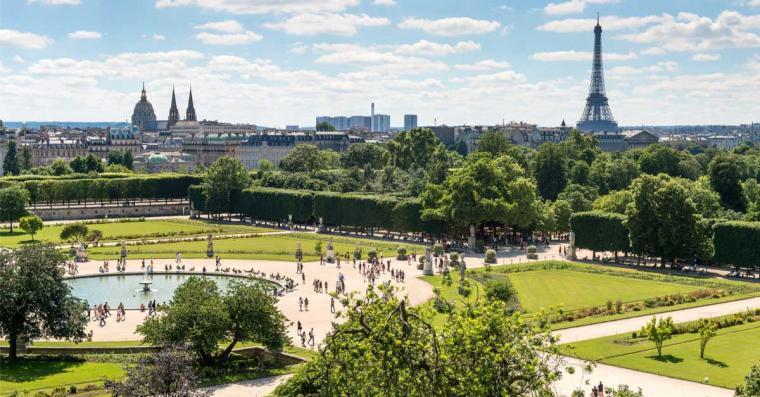jardin des tuileries ete