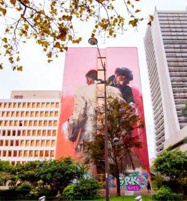 visite street art paris 13 fresque Boulevard Vincent Auriol