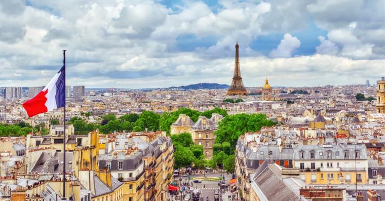 capitale france paris drapeau