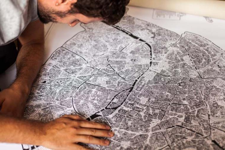 carte vue du ciel Paris vu du ciel : la jolie carte qui nous fait redécouvrir Paris