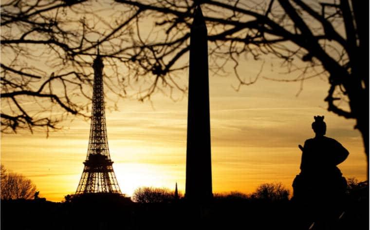 coucher soleil tuileries concorde paris