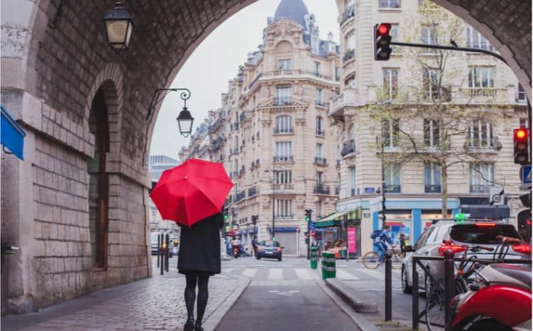 paris froid pluie