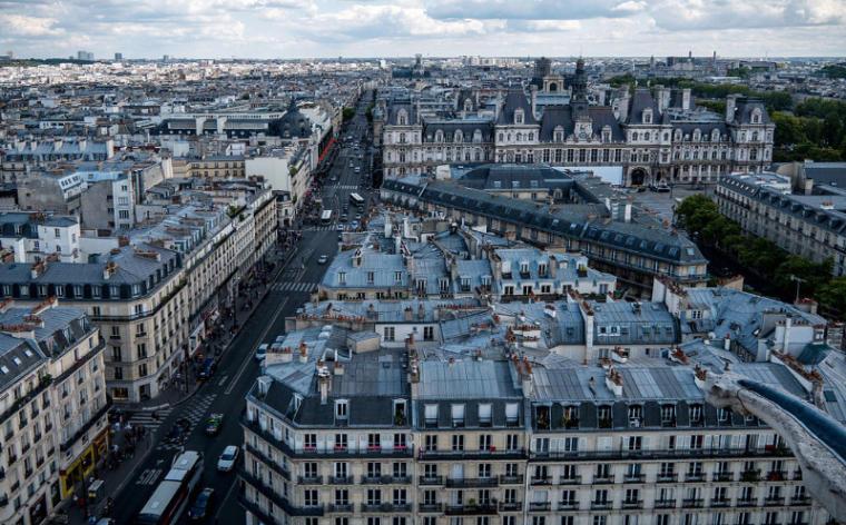 rue de rivoli vue du haut