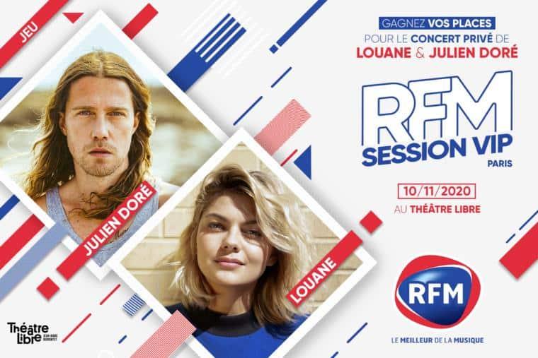 Louane Julien Dore concert prive paris