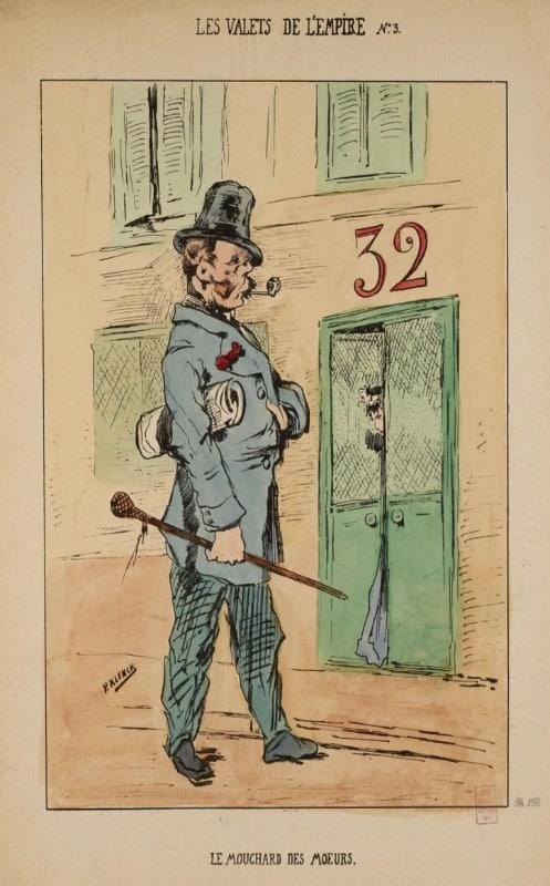 caricature brigade mondaine paris
