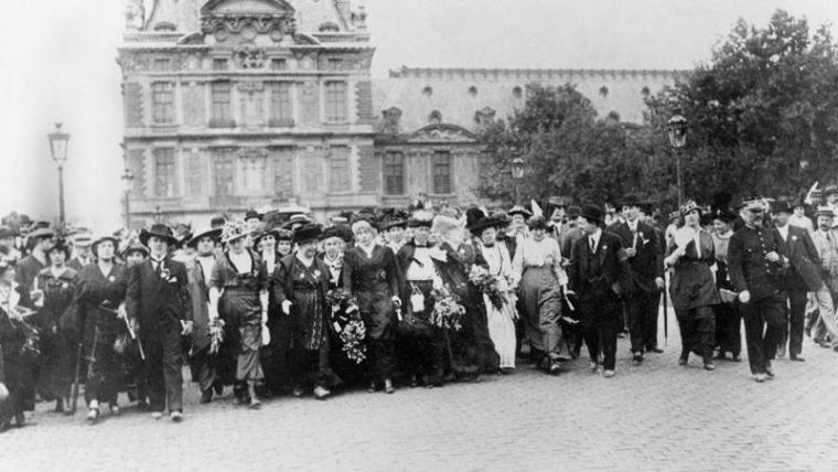 manifestation vote femmes 1914