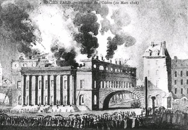 incendie odeon 1818