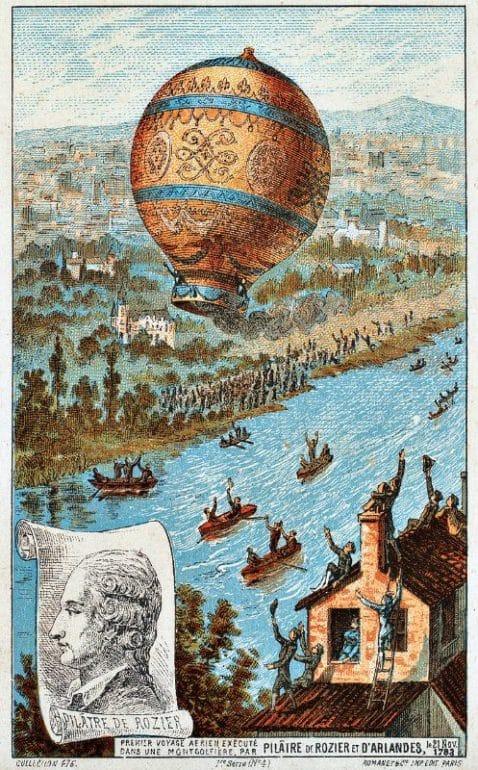 premier vol montgolfiere paris