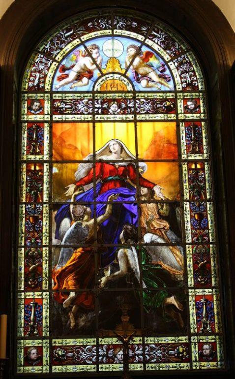 vitrail Notre Dame de Lorette