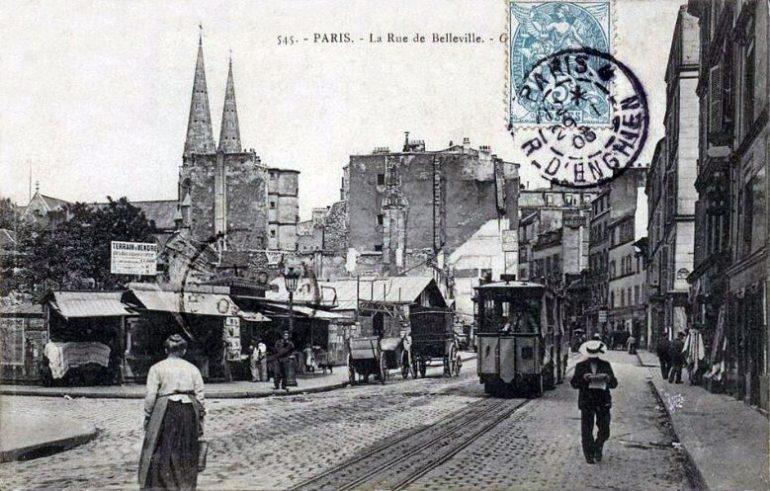 Rue de Belleville 1900