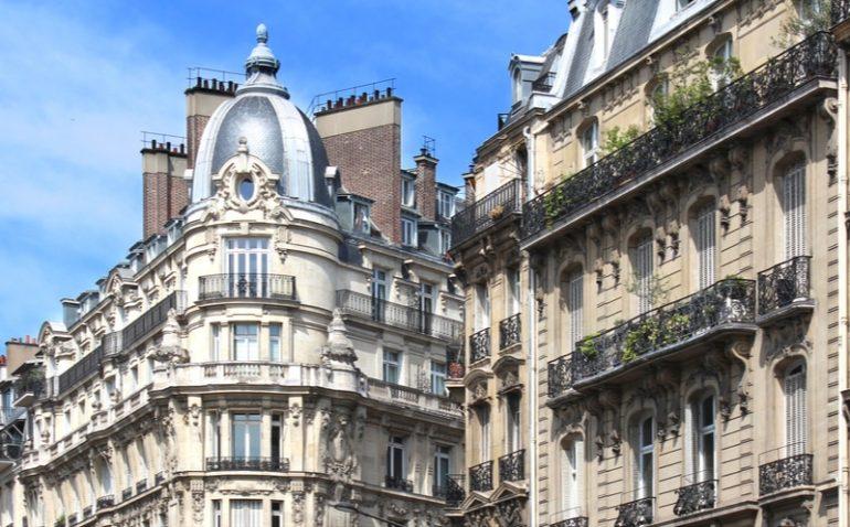 Edificios haussmannianos parís