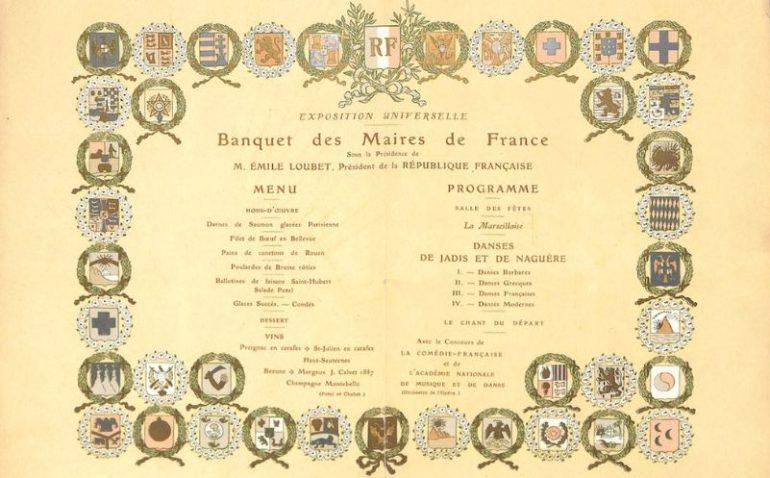 menu banquet maires