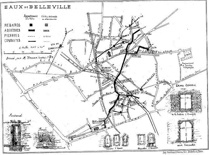 plan eaux Belleville
