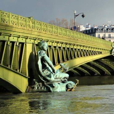 La crue de janvier 2018 au pont Mirabeau