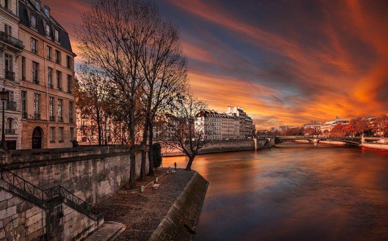ile saint louis sunset