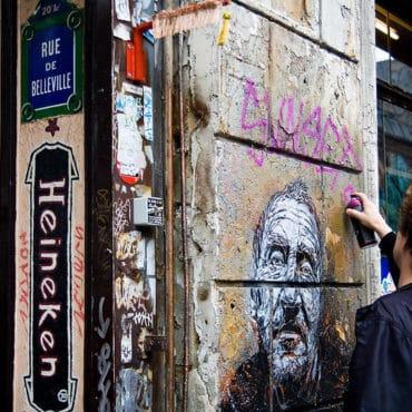 street art rue belleville paris
