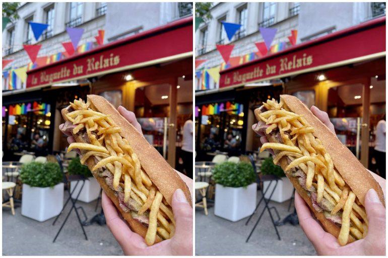 paris street food baguette du marais