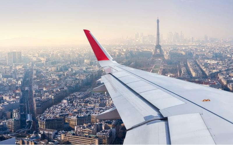 paris vue avion