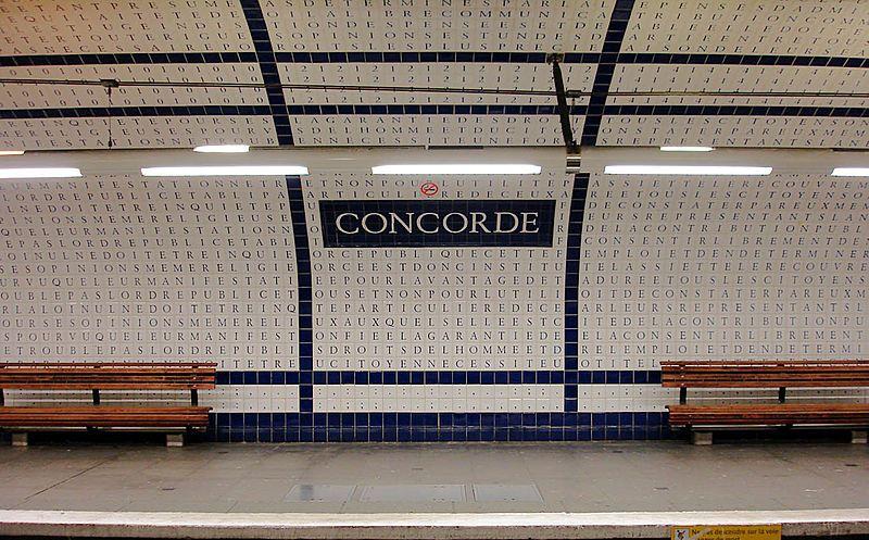 station metro concorde paris