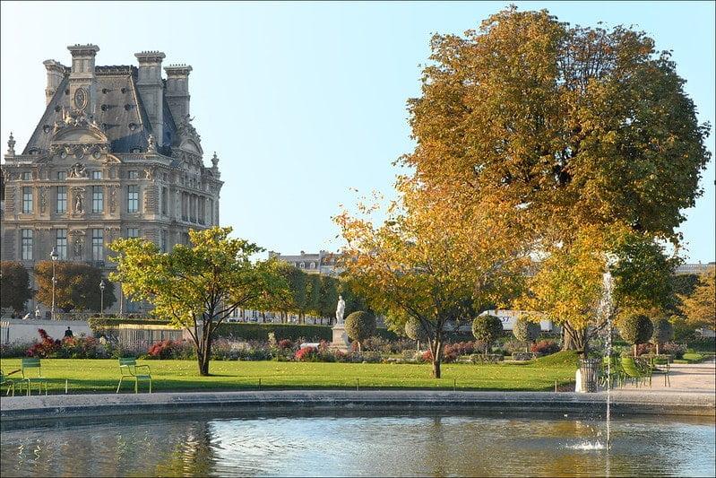 jardin tuileries automne